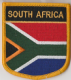South Africa Embroidered Flag Patch, style 07.